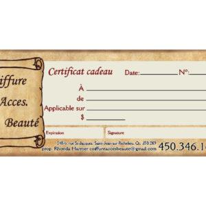 Certificats-Cadeaux